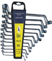 Ajay Bihexagonal Ring Spanner ( 12 Pcs. Set ) In Rack